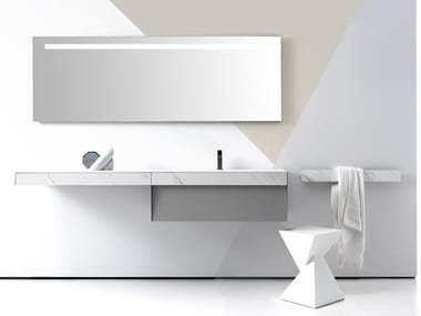 Wall-mounted vanity unit with drawers KUT 04