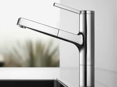 Countertop kitchen mixer tap with pull out spray KWC AVA | Kitchen mixer tap