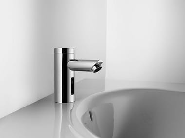 Infrared countertop stainless steel washbasin tap with flow limiter KWC IQUA | Countertop washbasin tap
