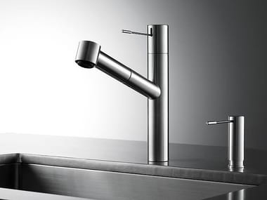 Countertop stainless steel kitchen mixer tap with pull out spray KWC ONO | Kitchen mixer tap