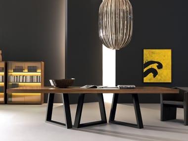 Rectangular wooden meeting table KYO | Meeting table