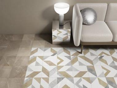 Indoor/outdoor wall/floor tiles with marble effect KYROS