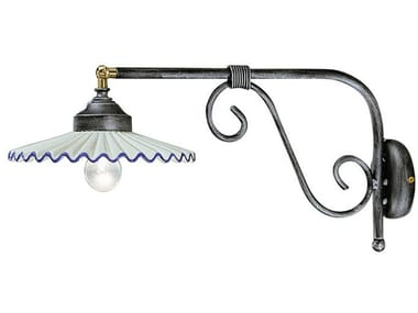 Adjustable ceramic wall lamp with fixed arm L'AQUILA | Wall lamp with fixed arm