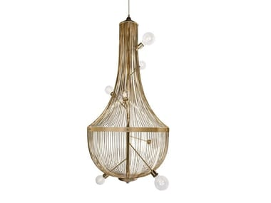 Brass pendant lamp L'CHANDELIER
