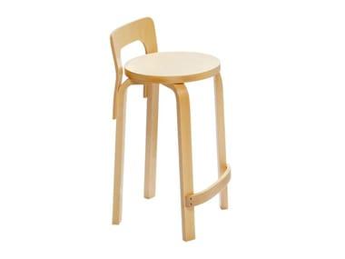 High birch stool K65 | Birch stool