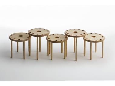 Wooden stool / coffee table L09