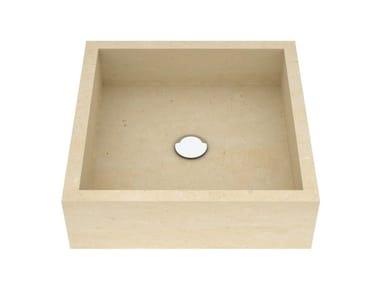 Countertop single lecce stone washbasin L17 | Lecce stone washbasin