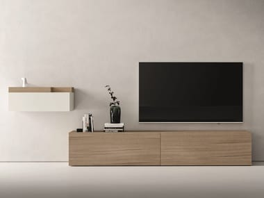 Sectional oak storage wall LEI | Composition L604