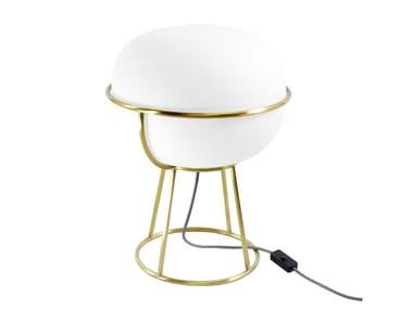 Lampada da tavolo in vetro sabbiato L88 | Lampada da tavolo