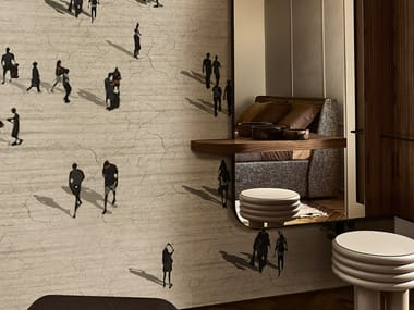 Panoramic wallpaper LA CITTA' FLUIDA