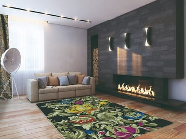 Handmade custom rug with floral pattern LA GHIRLANDATA | Rug