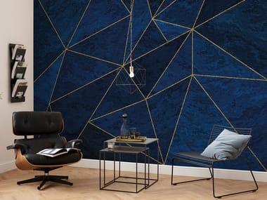 Geometric nonwoven wallpaper LA MER