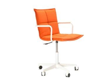 Cadeira operativa ajustável em altura de 5 raios com rodízios LAB Z METAL