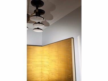 Solid-color fire retardant washable wallpaper LACCA METAL WALLCOVERING
