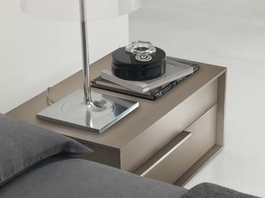 Lacquered rectangular bedside table with drawers FEEL | Lacquered bedside table