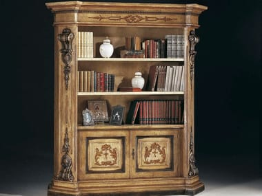 Open lacquered bookcase MACCHIAVELLI | Lacquered bookcase