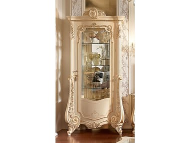 Lacquered wood veneer display cabinet FIRENZE | Lacquered display cabinet