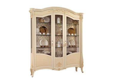 Lacquered wooden display cabinet PRESTIGE | Lacquered display cabinet