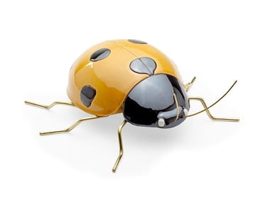 Ceramic decorative object LADYBUG YELLOW