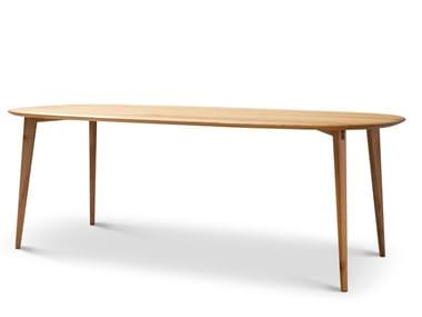 Oval wooden table LAFAYETTE