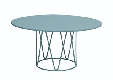 Tavolino da giardino rotondo LAGARTO | Tavolino