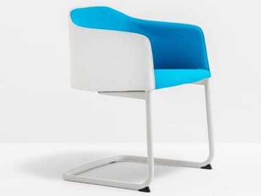 Cantilever upholstered chair with armrests LAJA Cantilever 882
