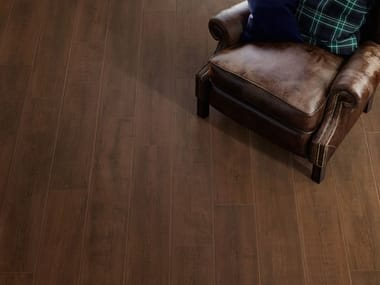 Porcelain stoneware wall/floor tiles with wood effect LAKEWOOD BROWN