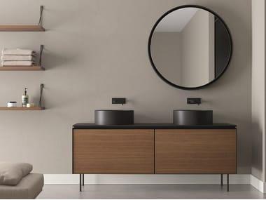 Double vanity unit with drawers LAMA | Double vanity unit