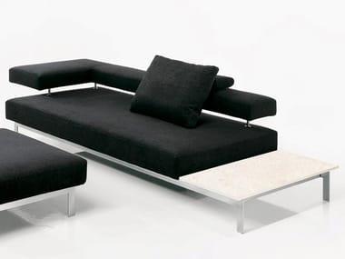 Fabric sofa with integrated magazine rack LAMA   Fabric sofa