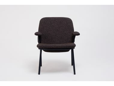 Upholstered fabric chair with armrests LANA | Chair with armrests