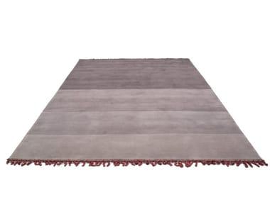 Handmade rectangular striped rug LAND