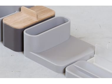 Polyurethane gel soap dish / stationery organizer LANDSCAPE TRAY