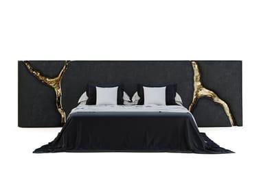 Upholstered velvet headboard LAPIAZ BLACK