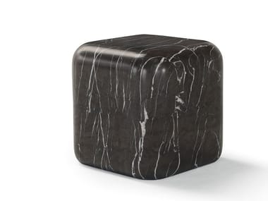 Square marble bedside table LAPIS | Bedside table