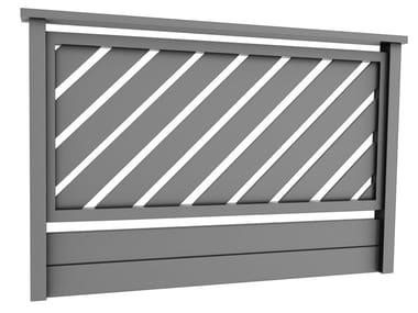 Parapetto in alluminio LARA