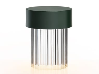 LED cordless table lamp LAST ORDER FLUTED GREEN