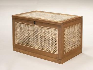 Sitzbank in Naturrohr im modernen Stil mit Aufbewahrung LAUNDRY  BASKET