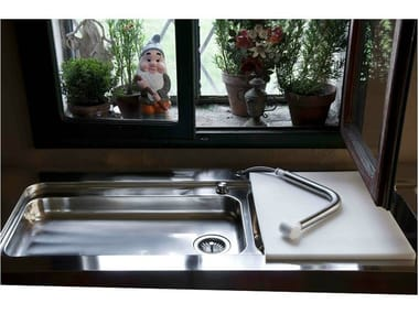 2 bowl stainless steel sink with drainer Sink