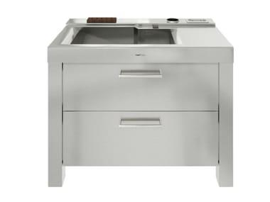 Stainless steel Kitchen unit for sinks MILANO 73V