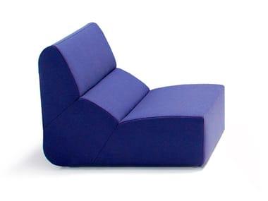 Modular fabric armchair LAYOUT | Armchair