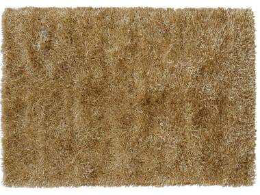 Solid-color rectangular polyester rug LE MATERIE POLIESTERE ORO ANTICO