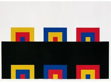 Serigrafia a 4 colori su carta dropjet LE PORTE