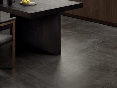 Pavimento/rivestimento in gres porcellanato effetto cemento CONCRETO DARK