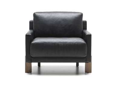 Leather armchair with armrests DS-77 | Leather armchair