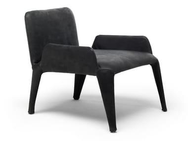 Leather armchair with armrests NOVA   Leather armchair