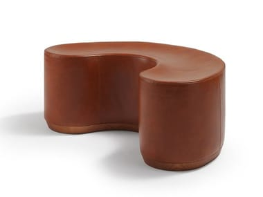 Upholstered leather bench DIVIDUALS | Leather bench