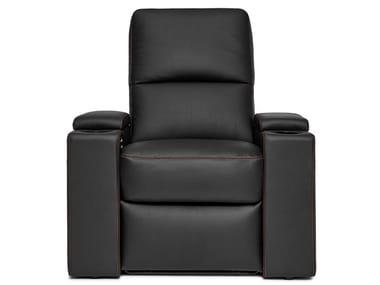 Leather Cinema armchair with motorised functions VENICE | Leather Cinema armchair