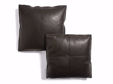Solid-color leather sofa cushion Leather cushion