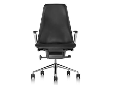 Swivel high-back leather executive chair TAPER | Leather executive chair