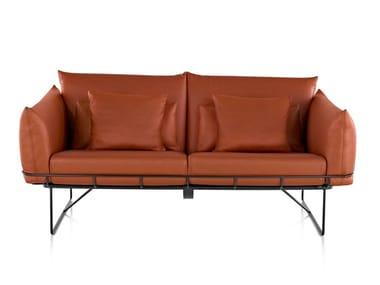 2 seater leather sofa WIREFRAME | Leather sofa